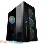 Корпус 1STPLAYER BLACK.SIR B7 / ATX, tempered glass / 4x 120mm RGB fans inc. / B7-4M2