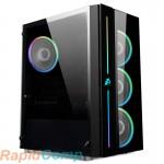 Корпус 1STPLAYER BLACK.SIR B7-A / ATX, tempered glass / 4x 120mm RGB fans inc. / B7-A-4M2