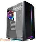 Корпус 1STPLAYER RAINBOW R6-A / ATX, tempered glass side panel / 1x 120mm LED fan inc. / R6-A-1R1