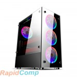 Корпус 1STPLAYER FIRE DANCING V6 / ATX, tempered glass side panels / 4x 120mm LED fans inc. / V6-4R1