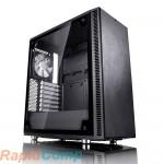 Корпус Fractal Design DEFINE C - TG / ATX, mid tower, tempered glass side panel / 2x120mm fans inc. / FD-CA-DEF-C-BK-TG