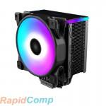 Кулер PCCooler GI-D56A HALO RGB LGA2066 / 2011 / 1366 / 115x / 775 / AM4 / 3 / 3+ / 2 / 2+ / FM1 / 2 / 2+ (12 шт / кор, TDP 160W, 120mm PWM VortexPro RGB FAN, 5 тепловых трубок 6мм, 1000-2000RPM, 29.1dBa)