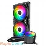 Комплект водяного охлаждения PCCooler GI-CX240 ARGB LGA2066 / 2011 / 1366 / 115х / 775 / AM4 / FM1 / 2 / 2+ / AM2 / 2+ / 3 / 3+ (6шт / кор, TDP 250W, 3 pin 5V Addressable RGB подсветка, 2х120mm PWM VortexPro FAN) RET