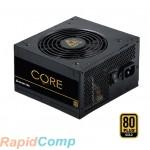Блок питания Chieftec Core BBS-600S (ATX 2.3, 600W, 80 PLUS GOLD, Active PFC, 120mm fan) Retail