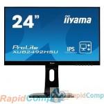 "IIYAMA 23.8"" XUB2492HSU-B1 черный {IPS 1920х1080 5ms 16:9 250cd 178/178 1000:1 5М:1 16,7M Color D-Sub HDMI DisplayPort 2x2W}"