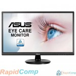 "ASUS LCD 23.8"" VA249HE черный {VA LED, 1920x1080, 5ms, 250cd/m2, 178°/178°, 3000:1 (100Mln:1), D-Sub, HDMI, Tilt, Blue Light Filter & Flicker free, VESA, Black} [90LM02W1-B02370]"