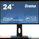 "IIYAMA 23.8"" XUB2493HSU-B1 черный {IPS LED 1920x1080 4ms 16:9 250cd 1000:1 178/178 D-Sub HDMI DisplayPort USB-Hub AudioOut 2Wx2}"
