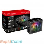 Thermaltake Smart RGB 500W  PS-SPR-0500NHSAWE-1 /Non Modular/Fan Hub/Single Voltage/Analog/80 Plus/EU/All Sleeved Cables RTL{8}