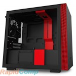 NZXT H210  CA-H210B-BR Mini ITX Black/Red Chassis with 2x 120mmAer F Case Fans