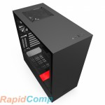 NZXT H510i CA-H510i-BR Compact Mid Tower Black/Red Chassis with Smart Device 2
