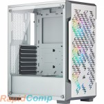 Corsair iCUE 220T RGB CC-9011174-WW Airflow Tempered Glass Mid-Tower Smart Case — White